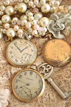 Antique pocket watches.