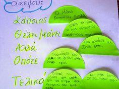 Dyslexia at home: Αφήγηση ιστορίας με τη βοήθεια σχεδιαγράμματος! Δυσλεξία και Γραπτή έκφραση Kai, Greek Language, Learning Disabilities, Dyslexia, Alter, Teaching Kids, Grammar, Writing, Education