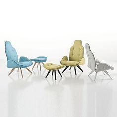 La collection de Betibú est une gamme souple d'asseoir avec une forme sinueuse et confortable. Avec son modèle occasionnel, cette collection est indiquée pour les espaces domestiques et de contrat. Le tissu de laines, piqué sur le siège et le dos, fournit...