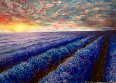 Lavender Field Painting On Canvas Impressionism Painting Wall