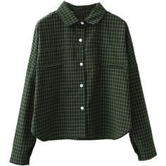 Army Green Plaid Long Sleeve Button Up Shirt ($31) ❤ liked on Polyvore featuring tops, shirts, blouses, flannels, long flannel shirts, button-down shirt, long-sleeve shirt, long sleeve button up shirts and button up shirts