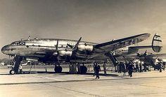Panair do Brasil. Lockheed L.049-46-26 Constellation. Aeroporto Santos Dumont.  Construído em 1946,