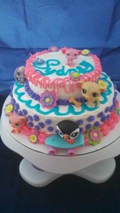 The Littlest Pet Shop birthday cake