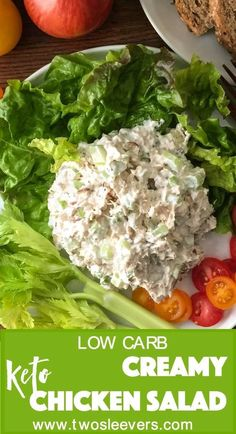 Very popular CreamyChicken Salad recipe. You'll wonder if this will be bland and tasteless with just a few ingredients, but I promise you, it won't. Super flavorful and extremely easy. via @twosleevers