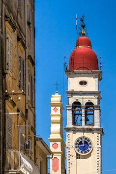 Church of Saint Spyridon - Corfu, Greece Corfu Town, Corfu Island, Christian World, Corfu Greece, Place Of Worship, Macedonia, Albania, Greece Travel, Greek Islands