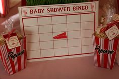 Vintage Sports Baby Shower - Bingo Cards