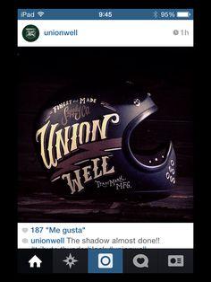 Unionwell helmet  via Instagram -Pin by Corb Motorcycles