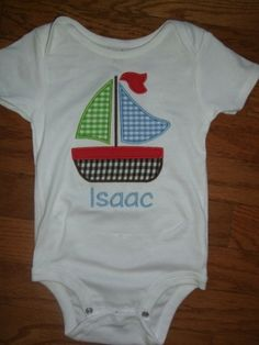 baby boy monogrammed t shirt - Google Search