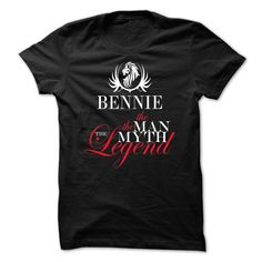 (Deal every 60 minutes) BENNIE the man the myth the legend Coupon 15% Hoodies, Funny Tee Shirts