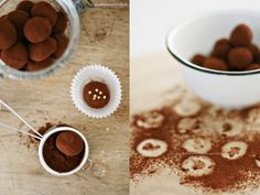 Chocolate truffles with goat cheese <3 swoooon