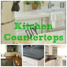 DIY KItchen Countertop Ideas remodelaholic.com #kitchen #countertops #DIY