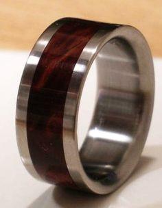 Tungsten Wooden Wedding Band DESERT IRON WOOD Mens or Ladies Ring Size 4-18 Rings