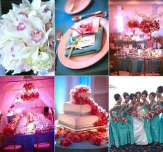 I've always wanted a teal and pink spring wedding...although my bridesmaids will be in short teal dresses