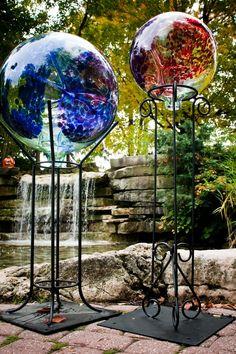 61 Best Gazing Balls Images Garden Art Garden Balls