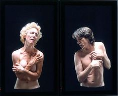 Bill Viola, Union, 2000, color video diptych on two plasma display flat-panel monitors. Worcester Art Museum.
