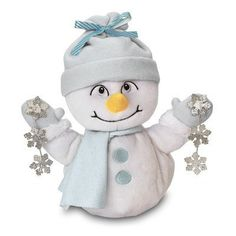 "Chantilly Lane Snowflake Snowman Sings ""Let It Snow"" Plush. Features: Musical and animated. On/off button. Details: Chantilly Lane Snowflake Snowman sings ""Let It Snow."" Perfect gift for Christmas. Snowmen Pictures, Moving Gifts, Plush Animals, Stuffed Animals, Let It Snow, Cold Porcelain, Inspirational Gifts, Cool Gifts, Snowflakes"
