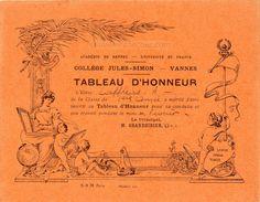 Tableau d'honneur - Collège Jules-Simon Vannes - 1934 (from http://souvenirsdecole.com/picture?/3) Éditeur S.R.M. Paris