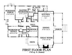 Allison Ramsey Architects | Floorplan for Summer Haven (variation) - 1743  sqaure foot house · House BlueprintsCottage ExteriorFarmhouse ...