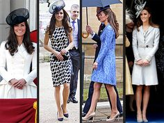 a whole weekend of wonderful wardrobe. duchess kate strikes again.