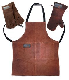 leather potholder | Home > Potholders & Mitts > Leather-Oven-Mitt-Apron-and-Gloves