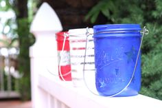 How To Make Patriotic Mason Jar Luminaries
