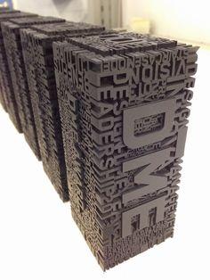 3D printed type #3dprinting #type