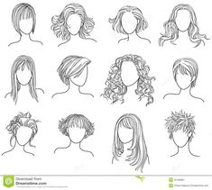 drawings of clothing models | Hairstyles Royalty Free Stock Photography - Image: 16190687