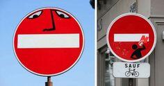 Segnaletica stradale noiosa? Ci pensa Clet Abraham