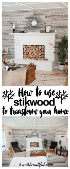 See how you can transform your home from drab to fab with the use of Stikwood! Get the look of real pallet wood (beacause it is real wood) and simply peel and stick the planks to create a gorgeous accent design! Beautiful in a bedroom, nursery, or living room!