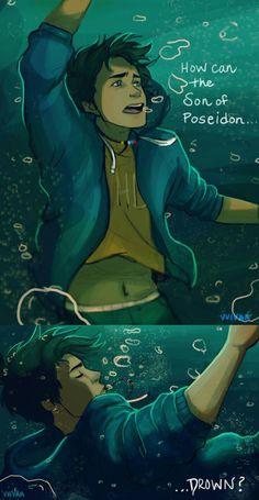 How can the Son of Poesidon drown. by vvivaa Percy Jackson Percy Jackson Fan Art, Percy Jackson Characters, Percy Jackson Memes, Percy Jackson Books, Percy Jackson Fandom, Percabeth, Solangelo, Dibujos Percy Jackson, Fan Fiction