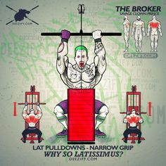 back exercise - joker lat pulldowns narrow grip