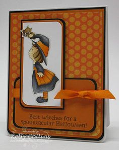 Best Witches by stinkincute - Cards and Paper Crafts at Splitcoaststampers - CC Designs digi Halloween Paper Crafts, Halloween Cards, Fall Cards, Winter Cards, Halloween 2016, Halloween Ideas, Rubber Soul, Thanksgiving Cards, Card Patterns