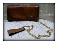 Brown leather wallet Men's leather wallet Men's by ThisAndThatToGo Brown Leather Wallet, Men's Leather, Vintage Leather, Wallet Chain, Happy Shopping, Belts, Wallets, Buy And Sell, Pocket