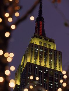 Empire State Building at Night, New York City NYC Photographic Print by James Lemass at Art.com