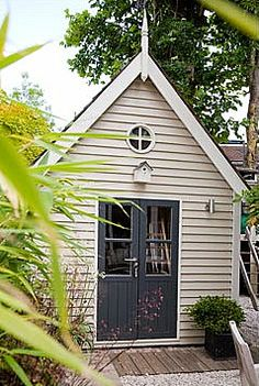 Not only is the shed beautiful but the approach and surrounds are complementary.