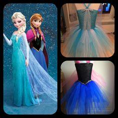 Queen Elsa & princess Anna - frozen disney inspired tutu dress cute girls party girly princess Elsa Anna frozen prices