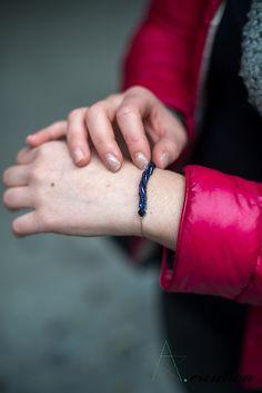 braccialetto realizzato con perline myuki e catena cobra