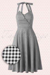 fbc4cdbe9a  Colette  Pink Gingham 60 s Jackie O Dress