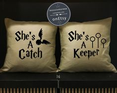 SALE Harry Potter She's A Catch & He's A Keeper by Lessssismoreee