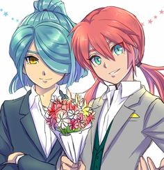 inazuma eleven nathan and lili Anime Love, Anime Guys, Manga Anime, Boy Art, Art Girl, Nathan Swift, Image Blog, Anime Wedding, Inazuma Eleven Go
