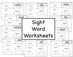 Sight Word Worksheets: Fry Word Lists - The Inspired Educator