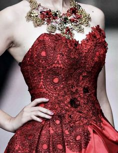 Red and black dress with hard bodice asgardian ballgown
