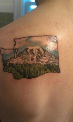 Washington state tattoos on pinterest west virginia for Helen chamberlain tattoo