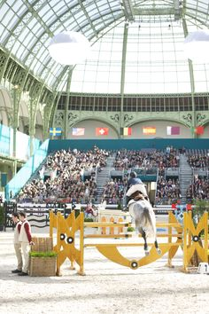 Saut Hermes Show Jumping Event. Notice the standards...