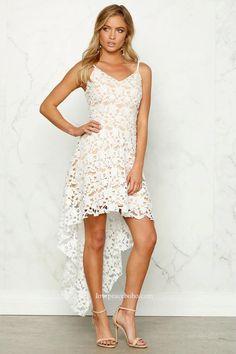 Lindsey Asymmetrical Lace Dress