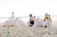 ♔ A Little Girls Beach Themed Tea Party