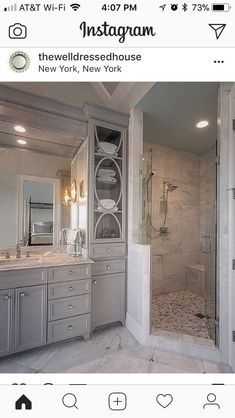 Beautiful bathroom decor tips. Modern Farmhouse, Rustic Modern, Classic, light and airy master bathroom design suggestions. Bathroom makeover some ideas and bathroom renovation tips. Mold In Bathroom, Bathroom Renos, Bathroom Cabinets, Bathroom Renovations, Bathroom Ideas, Mosaic Bathroom, Bathroom Organization, Restroom Cabinets, Bathroom Mirrors