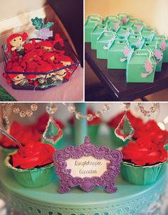 {DIYed} Ariel Themed Little Mermaid Birthday Party--- this blog has the cutest ideas for an Ariel birthday party!!