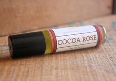 Cocoa Rose Perfume Oil Coconut Hemp Roll On by LongWinterSoapCo, $9.00