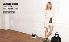 Camille Rowe for Zadig & Voltaire  http://blog.justwm.com/2012/07/24/camille-rowe-for-zadig-voltaire-the-making-of-video/